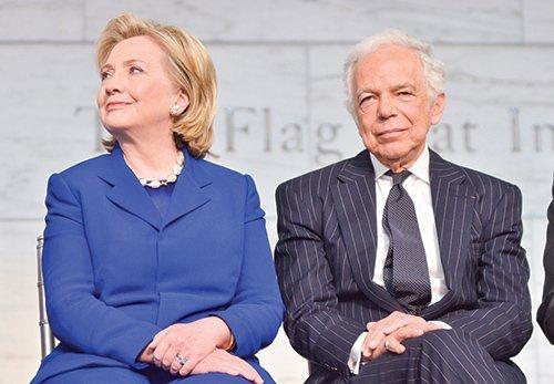 Hillary Clinton and Ralph Lauren