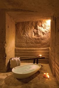 The unique hotel in the old town of Matera has preserved its original features